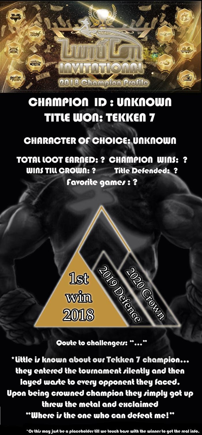 Invitational winner Tekken7